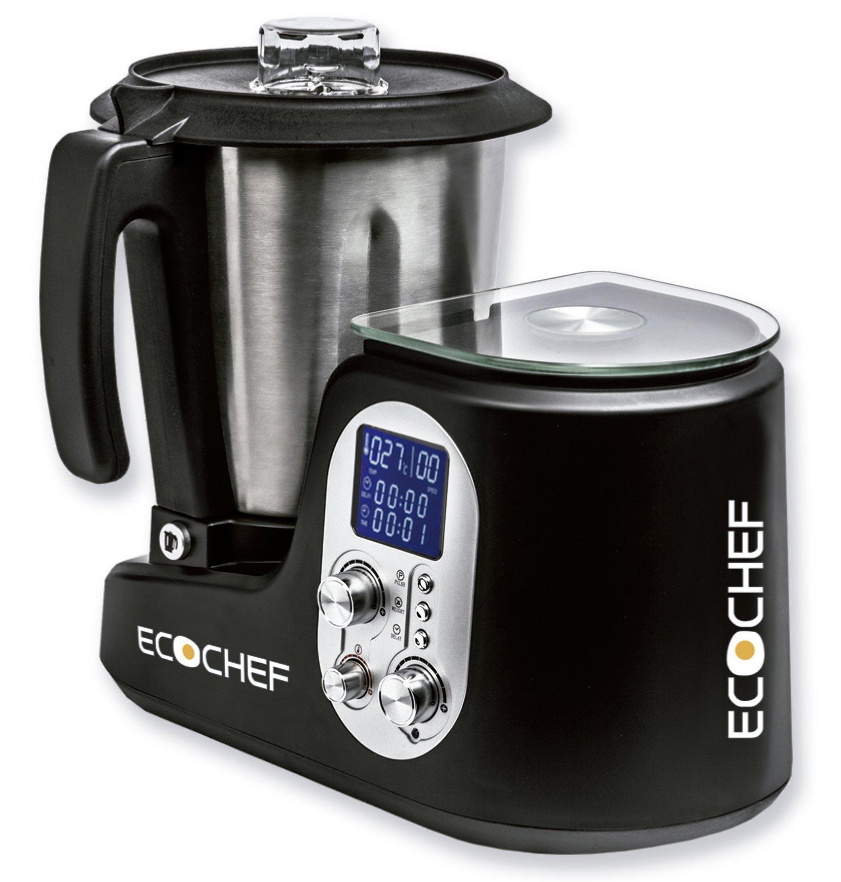 Erika Ecochef Mix Robot de cocina, 1000 W, Acero Inoxidable, Negro ...