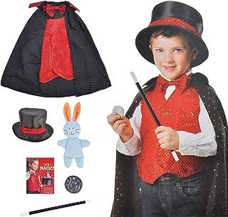 boogift Disfraz Mago niño-Trucos Magia Set Infantil-Disfraz