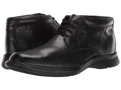 Clarks Kempton Mid (Black Leather) Men