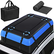 Tukuos Car Roof Bag Cargo Carrier,15 Cubic Feet Heavy Duty Rooftop Cargo Carrier with Anti-Slip Mat,Waterproof Bag,4 Lengt...