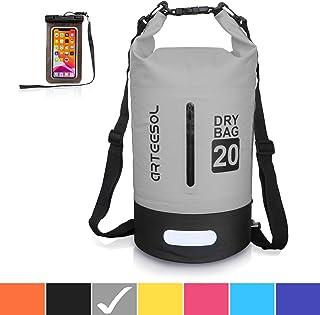 arteesol Waterproof Bag 5L/10L/20L/30L Dry Bag Rucksack with Double Shoulder Strap Backpack for Swimming Kayaking Boating ...