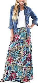 Women's Bohemian Print Long Maxi Skirt