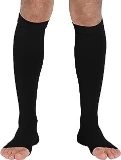 ChinFun Calf Compression Sleeve 20-30mmHG Leg Support Graduated Open Toe Pressure Socks Shin Splints