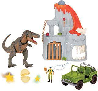 Terra by Battat - T-Rex Big Playset– Electronic Tyrannosaurus Rex Dinosaur Lava Mountain Set with 2 Surprise Dinosaur Toys...