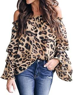 Goddessvan 2019 Women Casual Leopard Printed Sweatshirt Ladies Long Sleeve Pullover Shirt Top Blouse