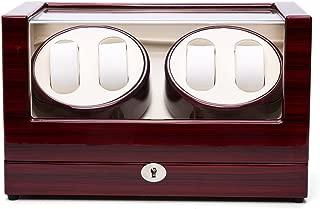 Gregarder Watch Winder Case Automatic Quad Watches Jewelry Storage Cases Display Box