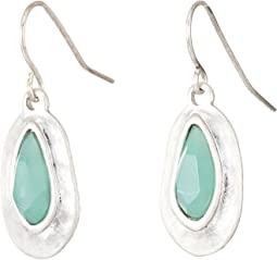 The Sak - Small Stone Drop Earrings