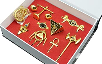 XCOSER Millenium Puzzle Ring Keychain Necklace Pendant for Xmas Gift 8pcs