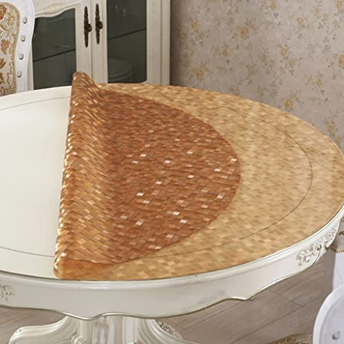 Küchenwäsche Transparente Tablecloth, Pad Wasserdichte runde Tischdecke Öl-proof Anti-Hitze Kaffee Mats Couchtisch ( Größe   Round 140cm )