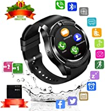 Bluetooth Smart Watch with Camera Touchscreen,Smart Watches Waterproof Unlocked Phones Watch with SIM Card Slot Compatible with Android Phone XS 8 7 6