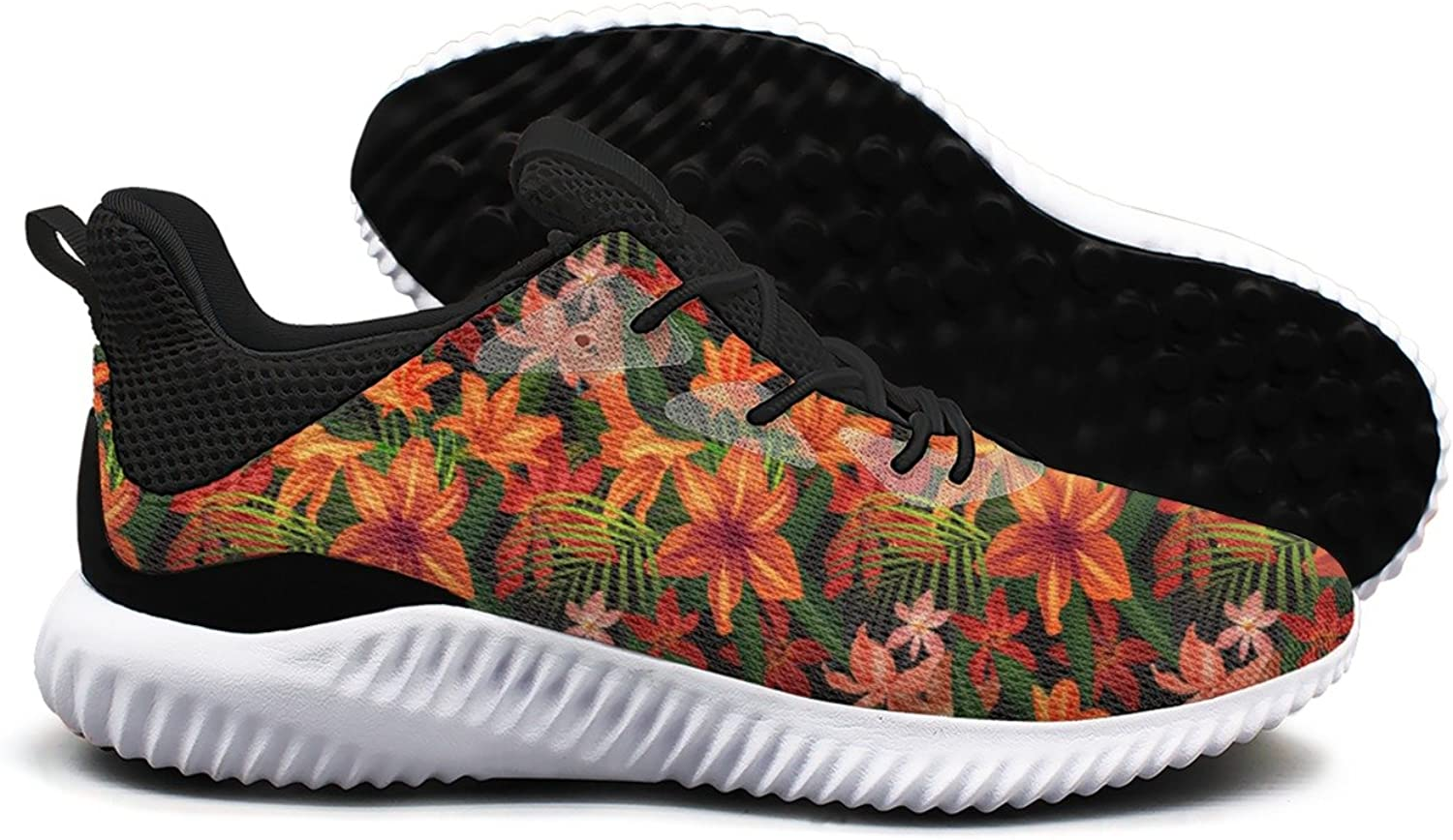 Brightly Tropical Flower Leisure Sports Running shoes Womens Neutral Unique Gift
