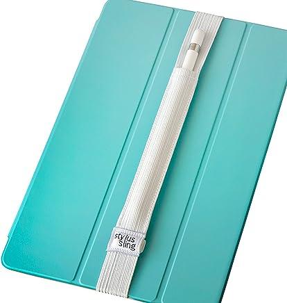 手写笔挂带 USB 适配器口袋适用于 Apple 铅笔(白色)WHTE_9.7-lbl 9.7/10.5-inch