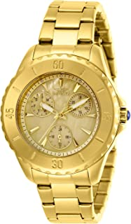 Women's Angel Quartz Watch with Stainless Steel Strap, Gold, 18 (Model: 29107)