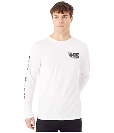 Salty Crew Alpha Long Sleeve Tee (White) Men