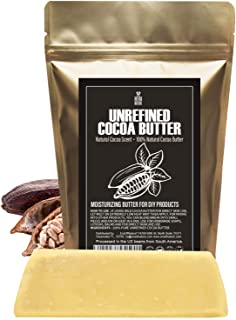 Raw NATURAL COCOA (CACAO) BUTTER BLOCK Best Quality Rich Natural Chocolate Aroma For Lip Balms, Stretch Mar...