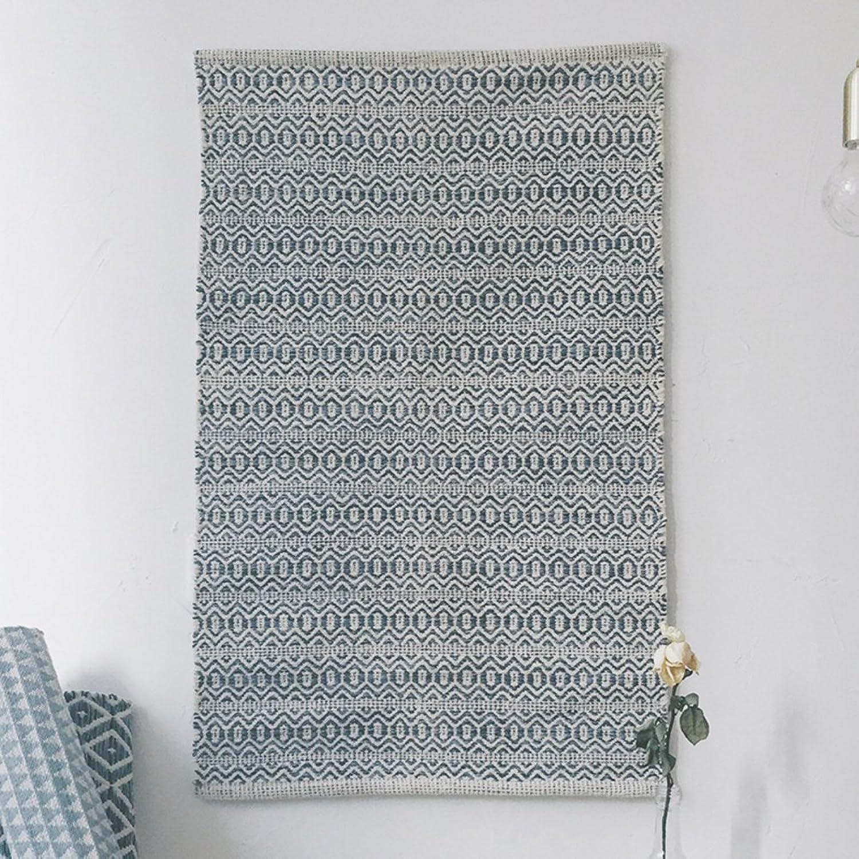 Household Mats Bathroom Non-Slip Mats Hand-Woven Mats-A 90x60cm(35x24inch)