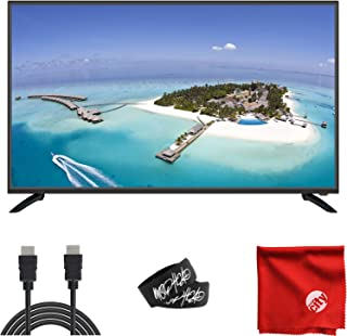 Sansui 43-Inch 1080p FHD DLED Smart TV (S43P28FN) Slim, Lightweight, Built-in HDMI, USB, High Resolution, Digital Noise Reduction Bundle with 6.5 ft HDMI Cable and Accessories