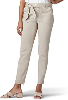 LEE Women's Regular Fit Straight Leg Utility Ankle Pant, Bungalow Khaki, 6