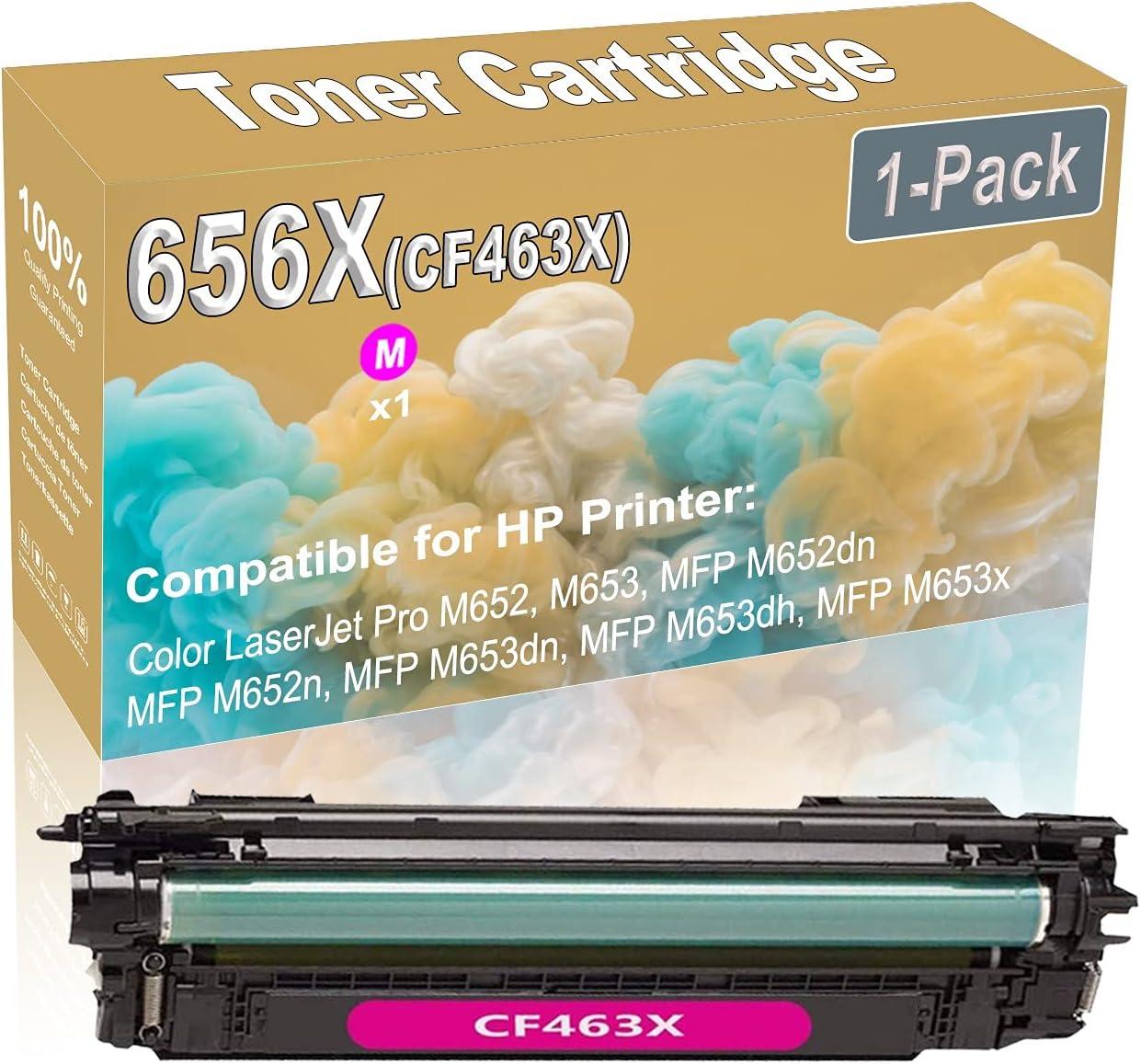 1-Pack (Magenta) Compatible High Yield 656X (CF463X) Printer Toner Cartridge use for HP M652 M653 Printers