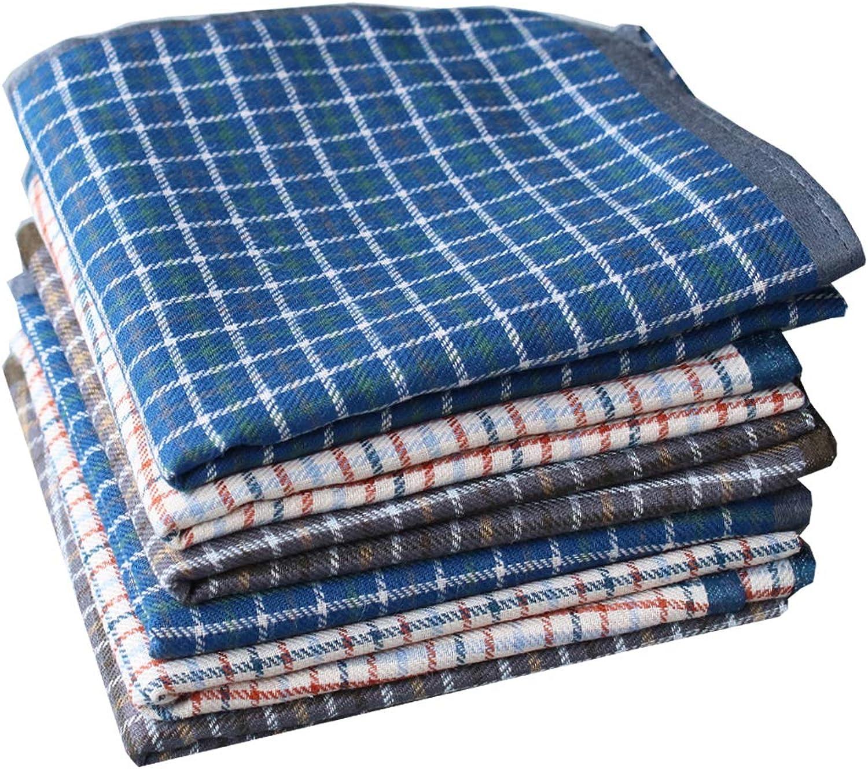 La Closure Mens Classic 100 Cotton Soft Handkerchiefs Hanky