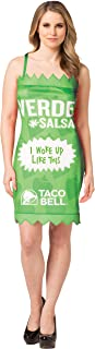 Taco Bell Sauce Packet Dress Verde Costume, Sizes S-XL