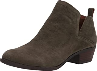 Lucky Brand Women's Bollo Bootie Ankle Boot, Olive Night, 10