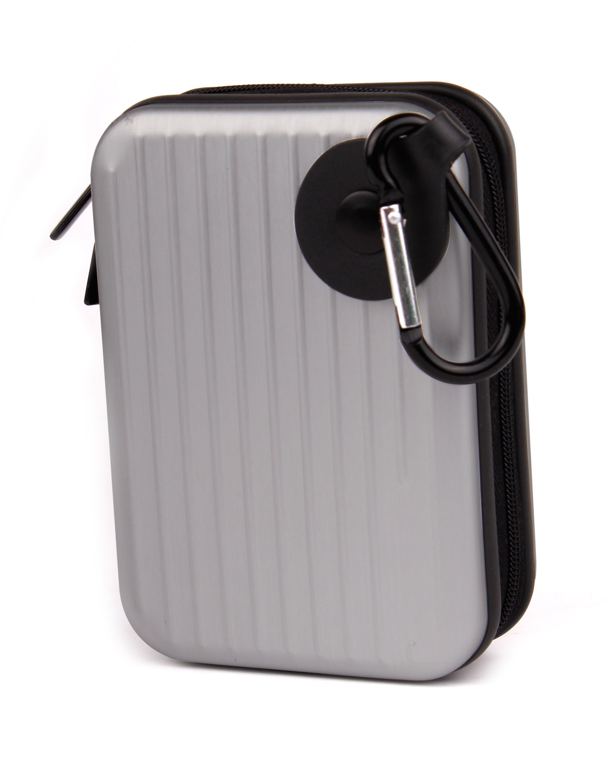 TG-620 TG-320 DURAGADGET Silver Shock Proof Protective Armoured Carry Case with Carabiner /& Foam Pads for Olympus TG-810 TG-610 Wrist Strap Worth /£4.99