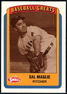 Baseball MLB 1990 Swell Greats #38 Sal Maglie NY Giants