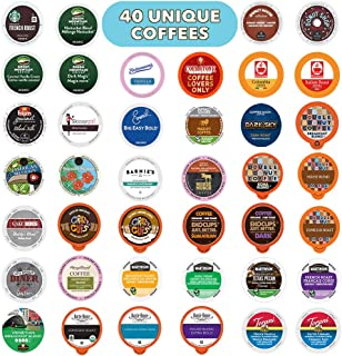Coffee Variety Pack  Sampler - Coffee Pods for Keurig K Cup Machine, 40 Count