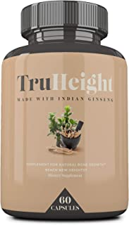 Height Growth Vitamins - Maximum Natural Height Growth Formula, Helps You Grow Taller - Bone Stimulator for Bone Growth - Growth Pills - Bone Grow - Grow Bone - Calcium Supplement - by TrueHeight