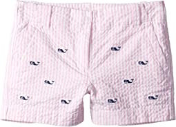Whale Embroidered Seersucker Shorts (Toddler/Little Kids/Big Kids)