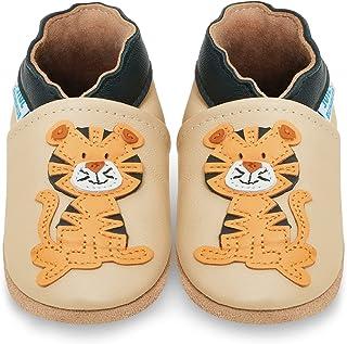 Miękkie skórzane buty do nauki chodzenia, buty do raczkowania, kapcie dla niemowląt z zamszową podeszwą. Dla chłopców i dz...