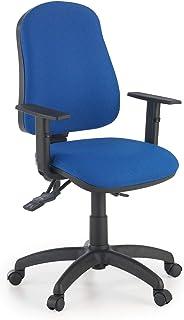 ofiprix | Silla Eco2 | Silla Giratoria de Oficina | Silla de Escritorio Tapizada | Brazos Ajustables | Color Azul
