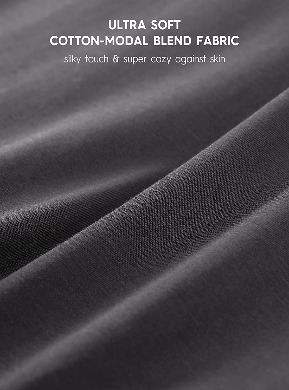 DAVID ARCHY Men's 3 Pack Soft Modal-Cotton Blend Trunks Pouch Underwear