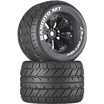 2 Duratrax C3656 Bandito 1//8 Buggy Tire C3 Mounted Spoke Black