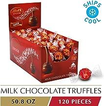 Lindt LINDOR Milk Chocolate Truffles, Kosher, 120 Count, 50.8 Ounce