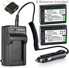 Kastar NP-FH50 Battery (2-Pack) and Charger Replacement for Sony DCR-DVD610 DCR-DVD710 DCR-DVD810 DCR-DVD910 DCR-DVD510 DCR-DVD410 DCR-DVD310 DCR-DVD110 Handycam Camcorder