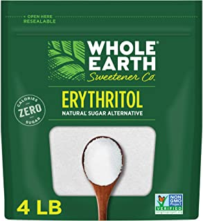 Whole Earth Sweetener Zero Calorie Plant-Based Sugar Alternative, 4 Pound Pouch, 100% Erythritol, 64.0 Ounce