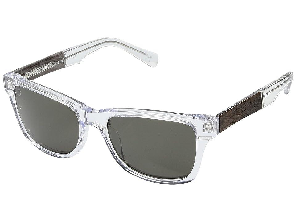 Shwood Canby Acetate Wood (Crystal/Elm Burl/G15) Athletic Performance Sport Sunglasses