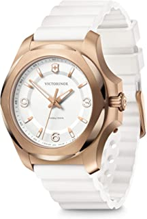 Victorinox Swiss Analog Watch for Women - White Dial with White Rubber Strap, Stylish Wrist Watch for Casual and Sporty We...