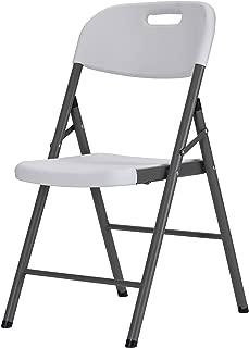 Sandusky Lee FPC182035-WV2 Resin Folding Chair, White (Pack of 4)