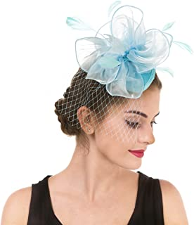light blue hats and fascinators