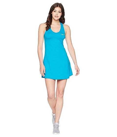 Nike Court Dry Tennis Dress, Neo Turquoise/White