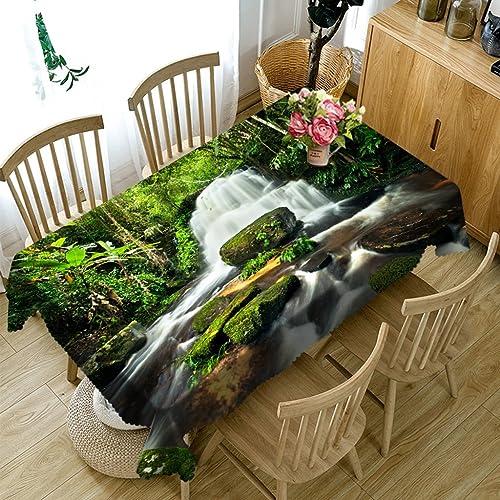 Qiao jin Tischdecke Rechteckige Tischdecke - 3D personalisierte Tischdecke PG01047 - Umweltfreundlich und geschmacklos - Digitaldruck Wasserdicht (Größe   Square -228cm228cm)