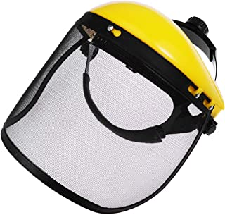 Yarnow Face Shield with Adjustable Mesh Visor Safety Industrial Forestry Chainsaw Safety Helmet Protective Face Shield Cover for Outdoor Work