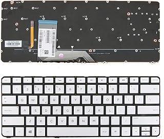US Backlit Keyboard for HP Spectre x360 13-4000 13-4100 13-4200 Silver (Without Frame, Backlit) US MP-13J73CHJ9202 Laptop ...