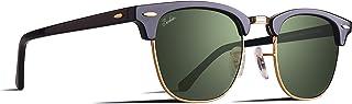 Berikin サングラス 偏光 ガラスレンズ ブロー サーモント クラシック ユニセックス メンズ レディース UV400 sunglass for men women