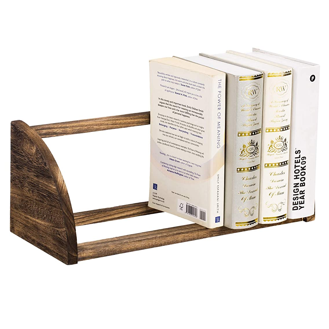 "NEX Book Shelf Desktop Bookcase Countertop Book Rack for Office & Kitchen, 16.2"" x 6.3"" x 6.6"", Natural Wood"