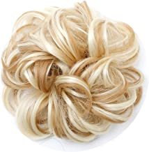Women's Curly Scrunchie Chignon With Rubber Band Brown Blonde Hair Ring Wrap For Hair Bun Ponytail,P6 / 613