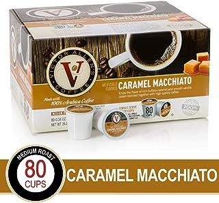 Caramel Macchiato for K-Cup Keurig 2.0 Brewers, Victor Allen's Coffee Medium Roast Single Serve Coffee Pods, 80 Count